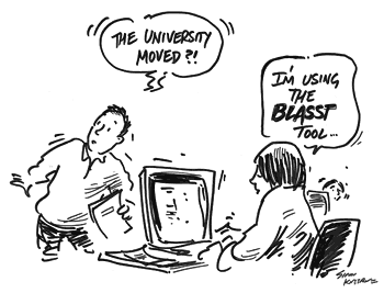 cartoon showing using the BLASST tool